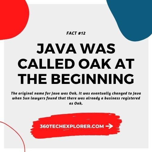 Java was called Oak at the starting