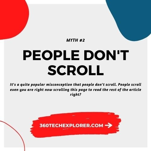 People don't scroll. UX Myth #2