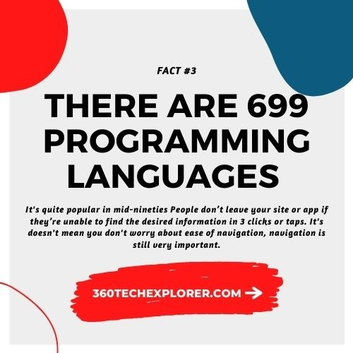 There are 699 different programming languages