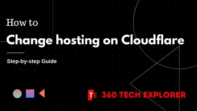How to change hosting on Cloudflare