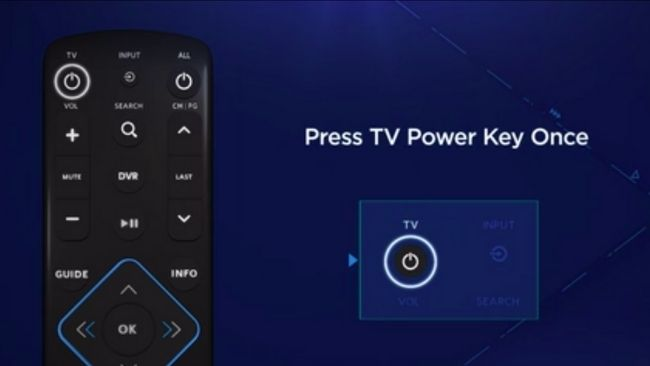 Press and hold the MENU and OK keys on the remote