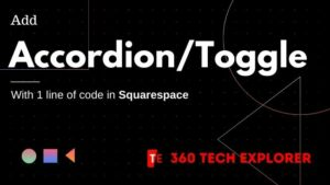 Add AccordionToggle style with 1 line code in Squarespace
