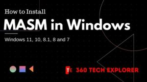 How to Install MASM in Windows